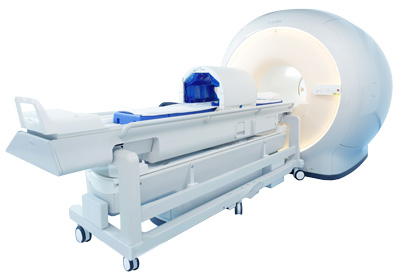Pyrexar BSD-2000 3D/MR Hyperthermia System docked in a MRI